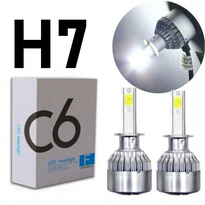 Lys og lygter, H7 LED Pærer 6000K 7600LM 72W
