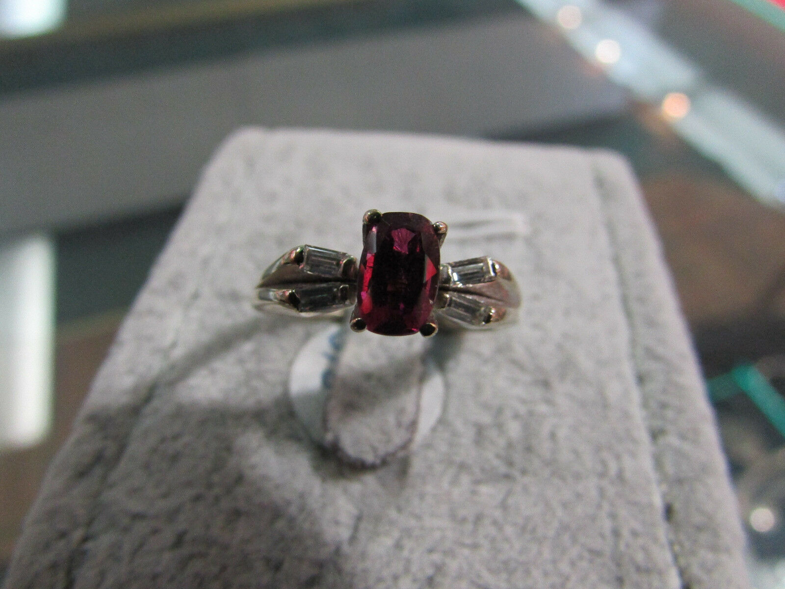 f500d08977402 Diamond and Ruby gold White 14k Ring 7 Size ghph18b063648-Gemstone ...
