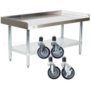 X Heavy Equipment Stand W Casters Stainless Steel Work - Stainless steel work table with casters