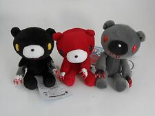 "JP Anime Black red gray 3pcs 6"" Gloomy Bear Soft Plush Doll Animals Stuffed Toys"