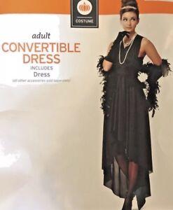 Details about Women\'s Black Convertible Dress multi wear Halloween Costume  New Plus size 2X