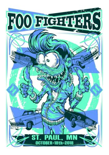 Foo Fighters Concert St.Paul 2018 Art Poster