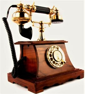 Chicago-Elkhart-IND-1885-London-Wooden-Crafted-Working-British-Telephone-TP-07
