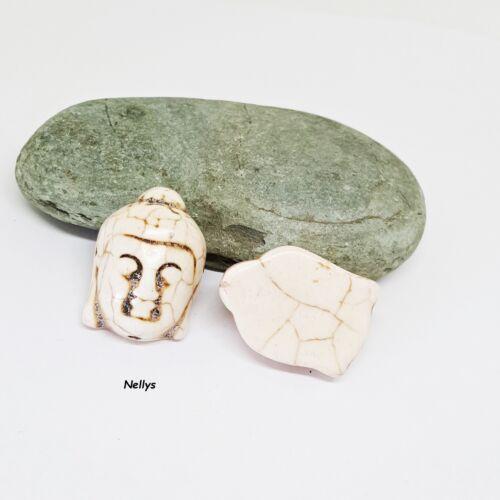 Nellys shiva tête Goa Head Bouddha Mala Perles environ 20x30mm sélecteur de couleurs 1 perle