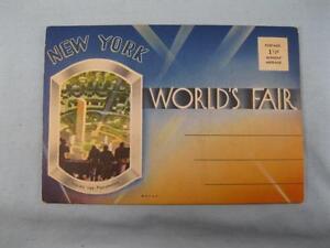 New York Worlds Fair 1939 Original Postcard Book Booklet Inside Perisphere (O)