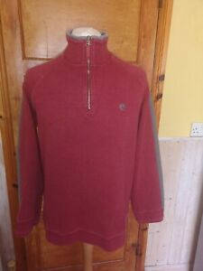 Fat-Face-red-cotton-mix-sweatshirt-Size-M-good-condition