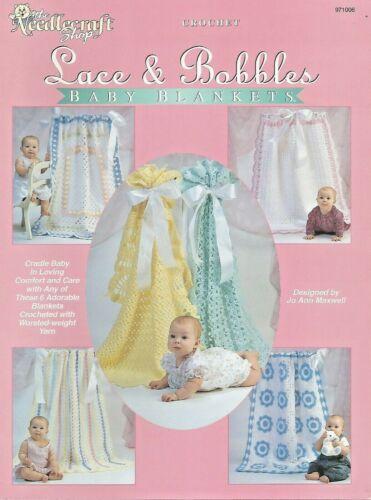 Lace /& Bobbles Baby Blankets Crochet Patterns Afghans TNS Jo Ann Maxwell
