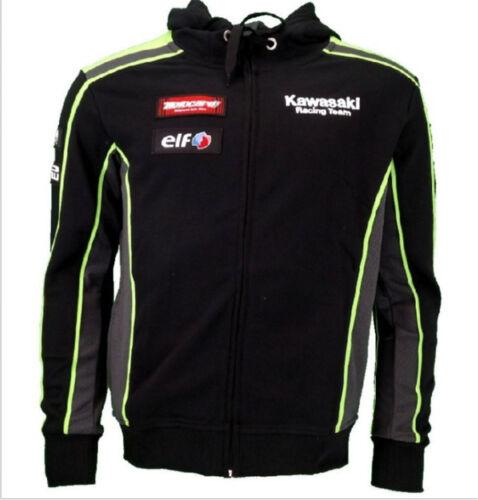 Kawasaki Hoodies Sweatshirts Motorcycle Sports Men/'s Zip-up Racing Hoodie UK