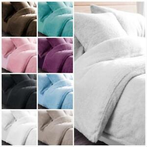 New-Fluffy-Teddy-Bear-Bedding-Duvet-Set-Quilt-Cover-Extra-furry-Warm-amp-Cosy-Range