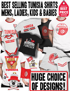 fb7e71541a4 TUNISIA Africa Cup Nations 2019 Football T-Shirt Choice of Mens ...