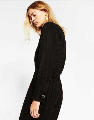 Zara Premium Taglia Combinaison Lyocell S Longue Collezione 241 M 8514 Black cKF1Jl