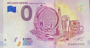 BILLET-0-EURO-BELGIAN-BEERS-BELGIQUE-2018-NUMERO-2000
