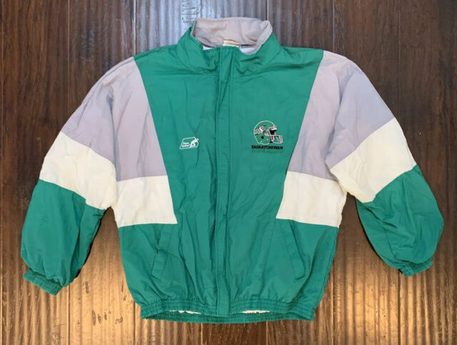 Vintage Saskatchewan Roughriders Football Jacket CFL 90's Player Jacket RARE