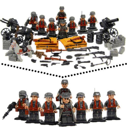 WW2 German Nazi Army Soldiers Minifigure Squad Military Building Blocks Toy
