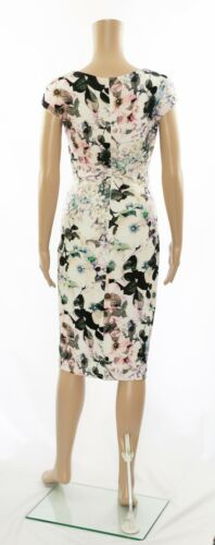 Bodycon Wrap jurk gelegenheid Ex Ruched Eight Phase feestelijke Print Floral qz66XYxB