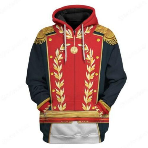 The Greatest Historical Man Army Pullover Hoodie Sweatshirt 3D Print Jacket Coat