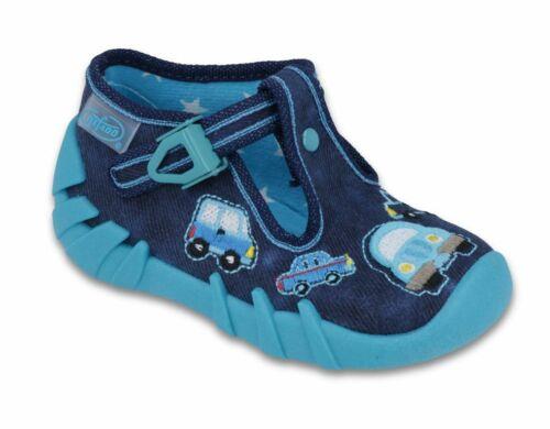 RAGAZZI in Tela Scarpe da ginnastica per bambini Kids Sandali Pantofole Mis 3-9UK befado