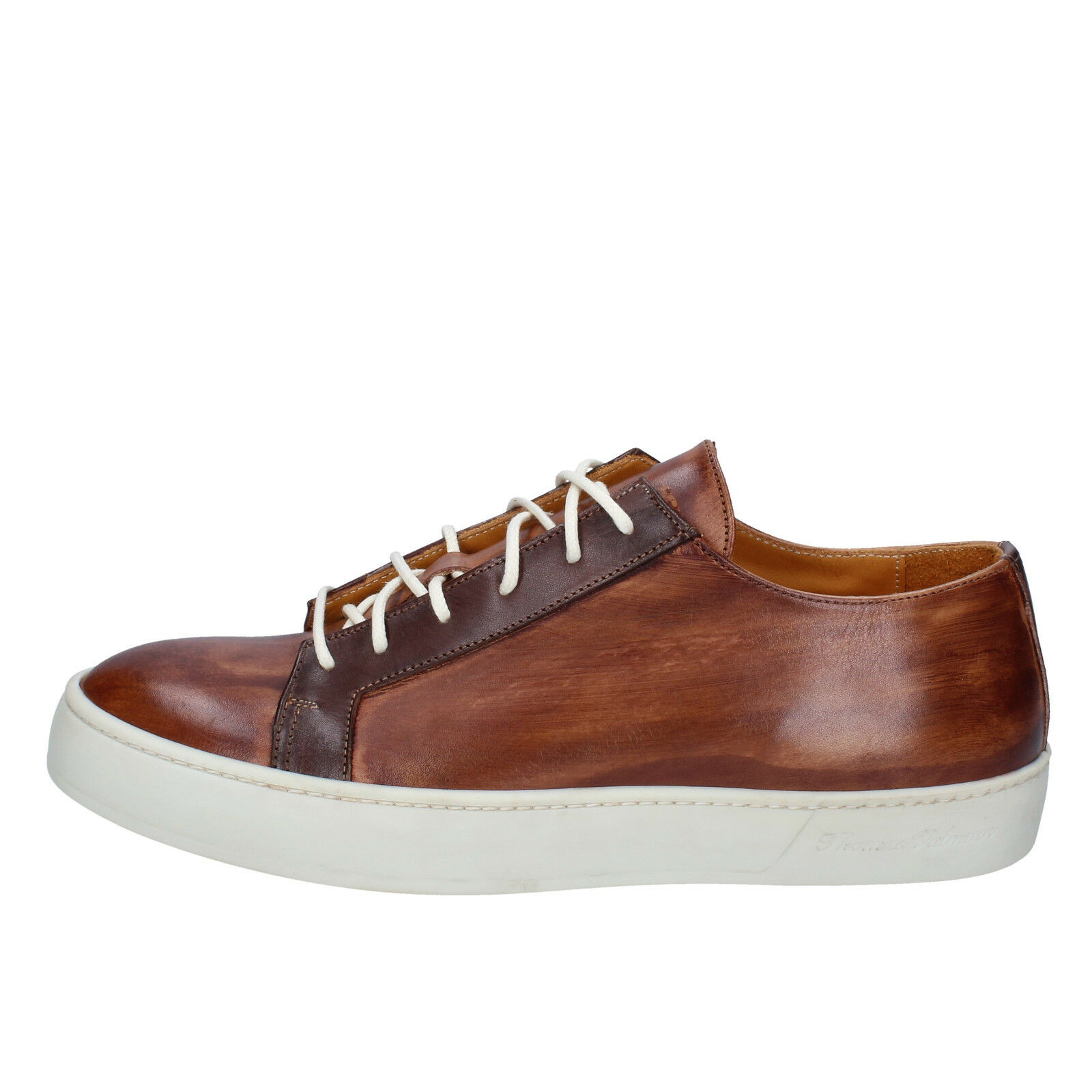 Men's shoes THOMAS VALMAIN 8 () sneakers brown leather AB805-41