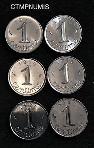 LOT-DE-6-MONNAIES-1-CENTIME-EPI-1975-77-79-82-87-88-COTE-60-Euro-SPL