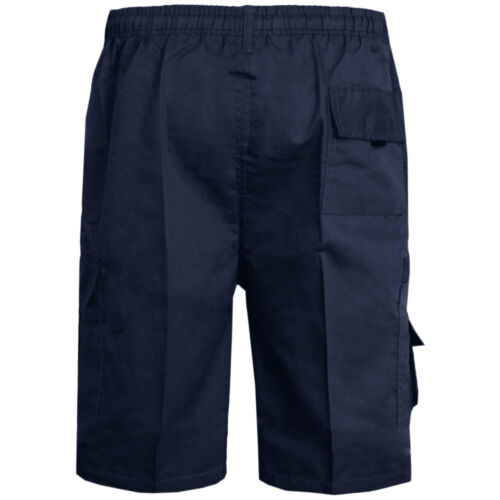MENS PLAIN SHORTS CARGO COMBAT CASUAL SUMMER BEACH POLY COTTON POCKETS 3//4 PANTS