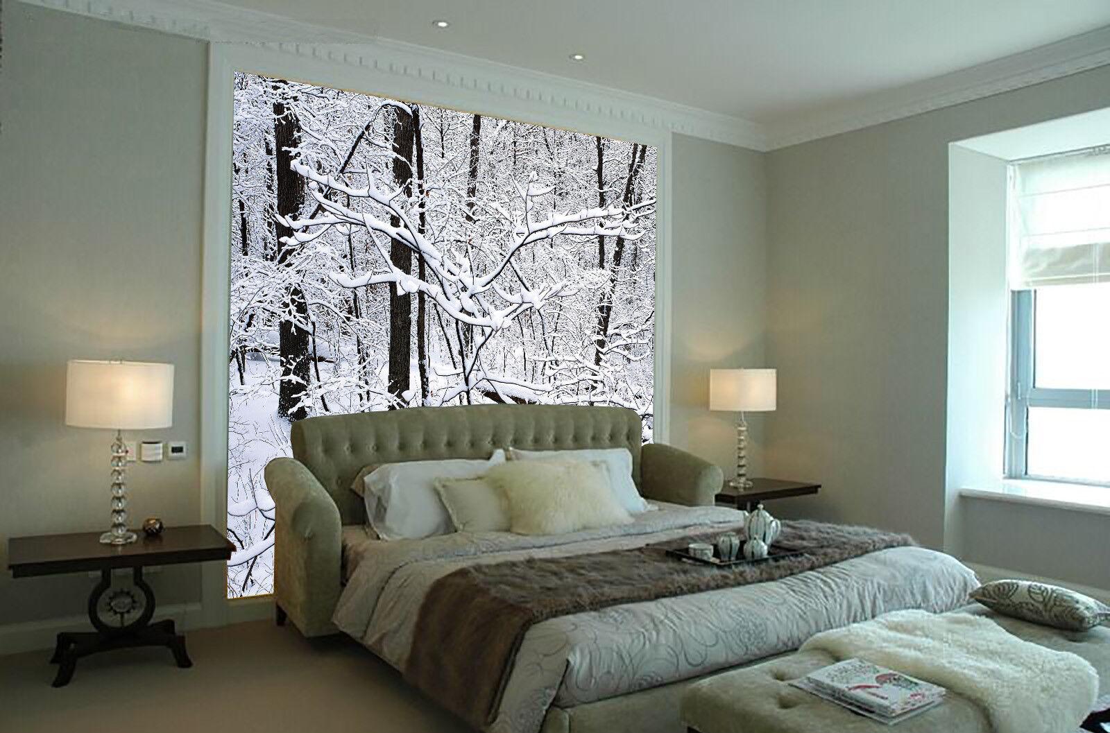 3D Weiß Snow Trees 71 Wall Paper Murals Wall Print Wall Wallpaper Mural AU Kyra