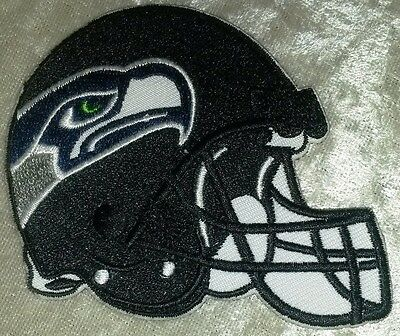 "Seattle Seahawks Helmet 3.5"" Iron On Embroidered Patch ~USA Seller~FREE Ship!"