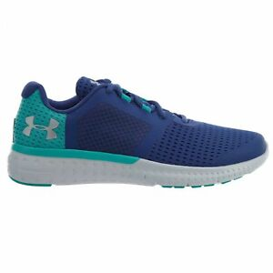 best sneakers 4d44c b648b Details about Under Armour Micro G Fuel RN Big Kids 1285441-179 Deep  Periwinkle Shoes Size 4