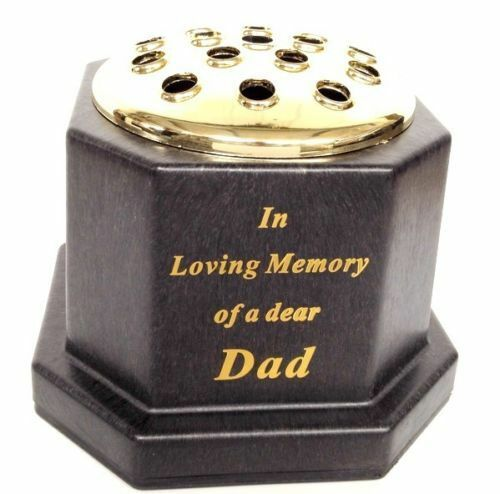 Graveside Spikes Dad Tributes Remembrance Vase Fathers Day Memorial Plaques