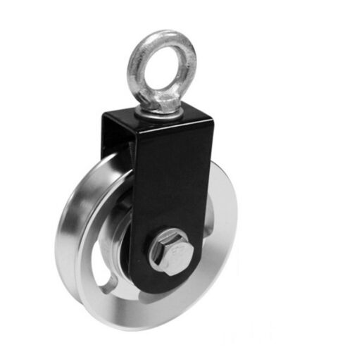 Swivel Pulley Block Cable Machine DIY Spin Pulleys Cables Roller Guide 73mm