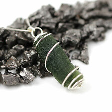 Genuine Moldavite Meteorite Space Pendant - Sterling Silver