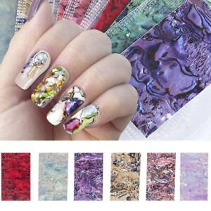 Nail-Art-Stickers-Water-Decals-Transfers-Multicoloured-Marble-3D-Gradient-Effect