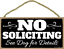 Wall No Soliciting See Dog for Details 5 x 10 inch Hanging Funny Signs Decor