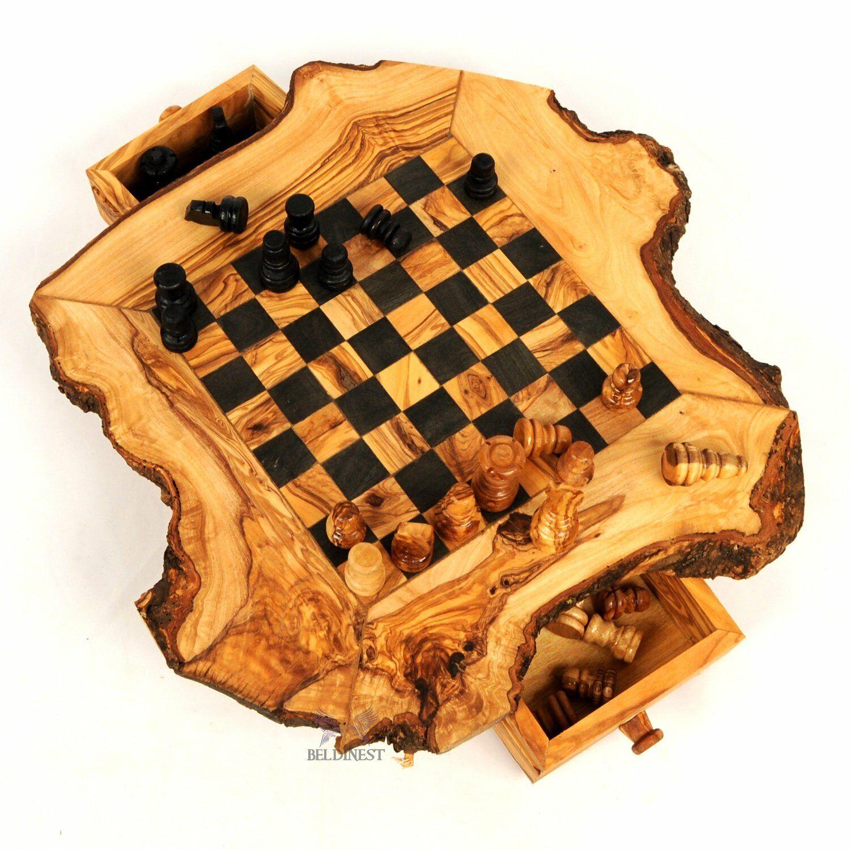 BeldiNest Olive Wood gree Chess gioco Rustic Hefatto- Wooden Chess  Set  fino al 65% di sconto