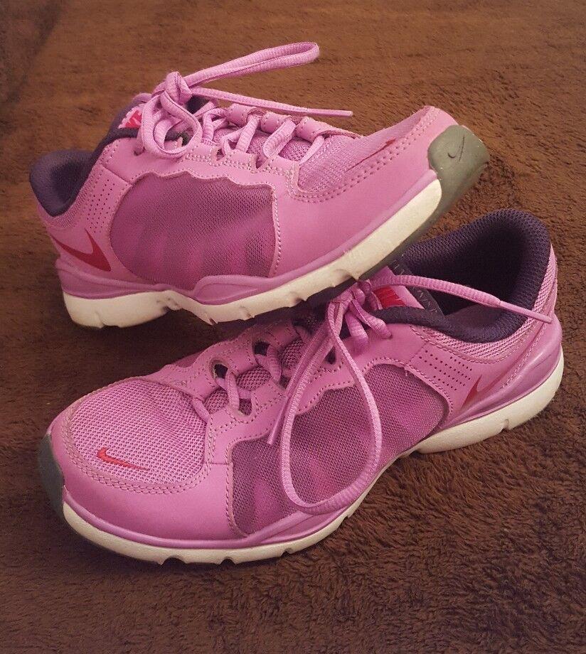 femmes  Nike Training Flex TR2 Running Sports  Violet  /  blanc  Sz 6.5 EUC Walking