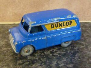 Vintage-Lesney-Matchbox-No-25-Bedford-Dunlop-Van-Azul-Cuerpo