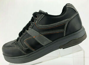 Gravity-Defyer-Comfort-Fit-Oxford-Black-Leather-Casual-Shoes-Womens-Size-8-5