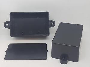 Plastik Box Verteilerkasten schwarz 2x Kunststoff Gehäuse 63 x 36 x 20 mm