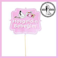 Its a Girl Babyshower Bebebk Party Kiz Bebek Iyki Dogdun Bayrak Flama Babyparty