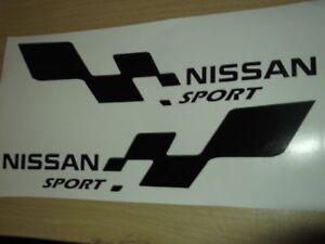 NISSAN sport  LARGE car vinyl sticker decal x2