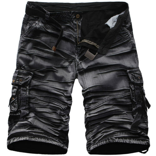 Summer Men Camo Cargo Sports Shorts Active Camouflage Short Pants Trousers