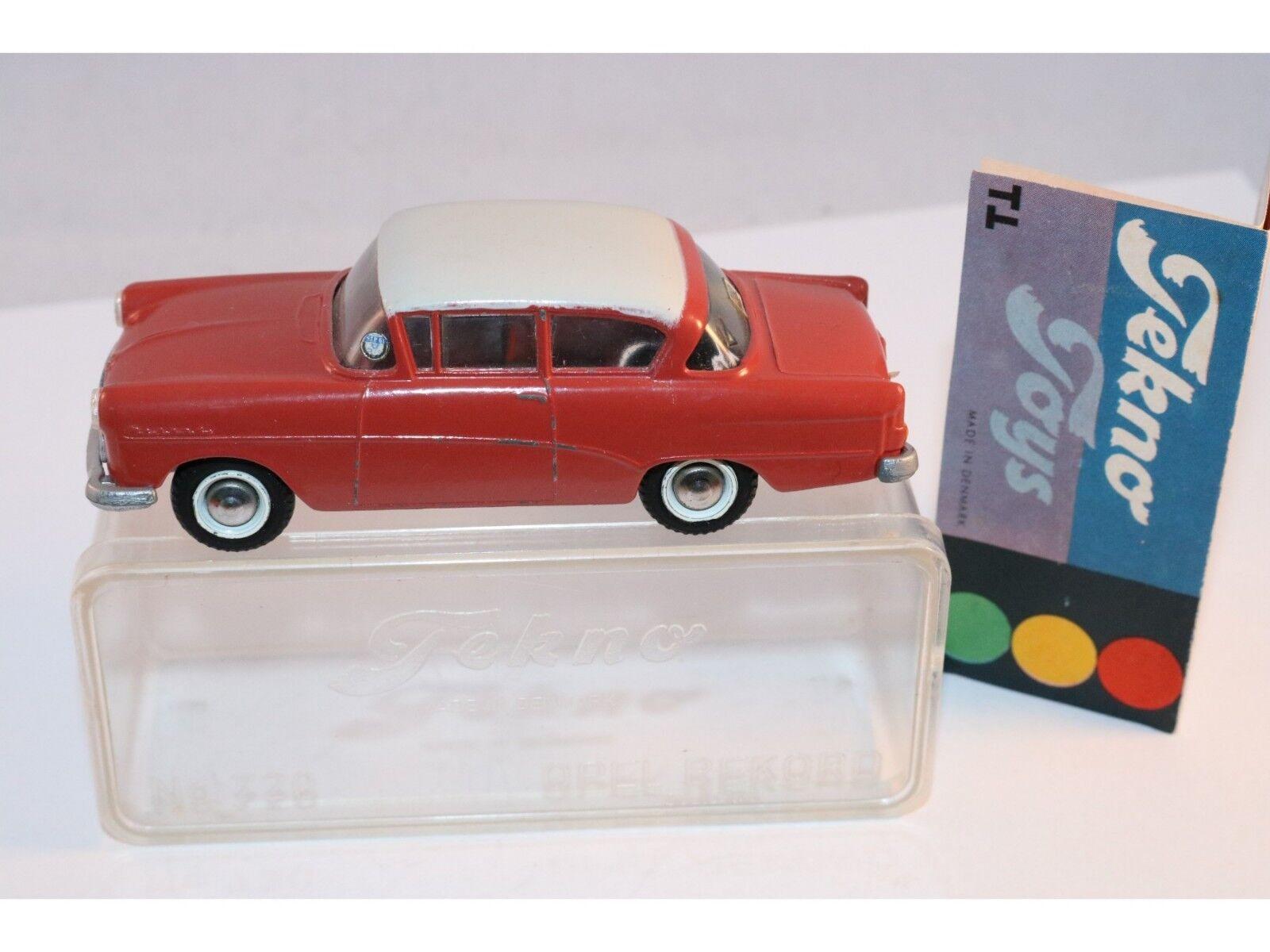 buena reputación Tekno Denmark 720 Opel Rekord 2 tone Color very very very difficult to find In box súperb  buscando agente de ventas