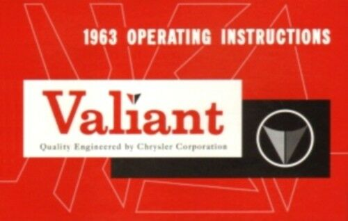 PLYMOUTH 1963 Valiant Owner/'s Manual 63