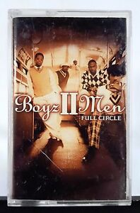 Boyz-II-Men-Full-Circle-2002-Arista-Cassette-Album-RARE