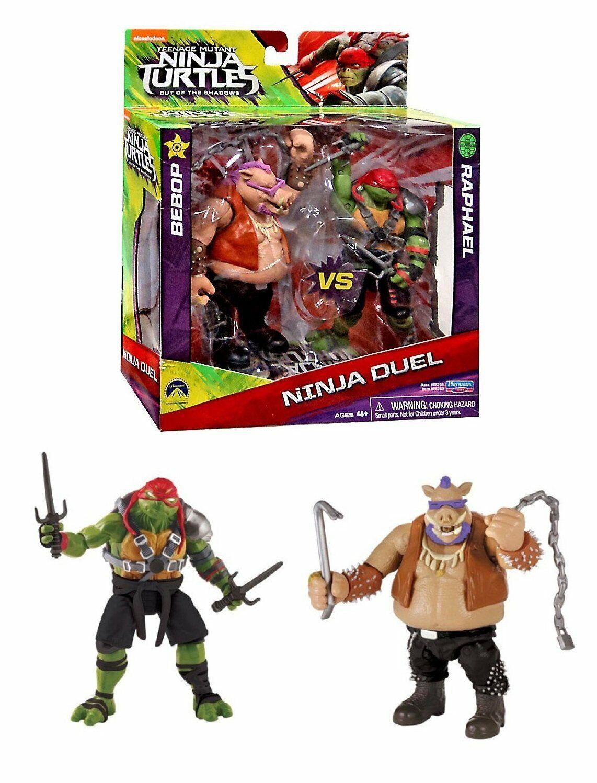 Teenage Mutant Ninja Turtles Toy Ninja Duel Bebop vs Raphael
