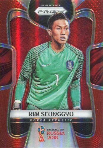 149 Tarjeta Base Paralelo #190 Kim seunggyu-Corea Prizm Copa del Mundo 2018 Rojo