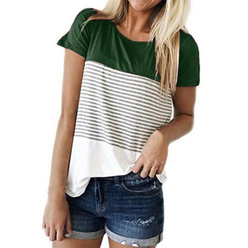 Women/'s Loose Summer Short Sleeve Tops Shirt Casual Tee T-Shirt Blouse HOT SALE!
