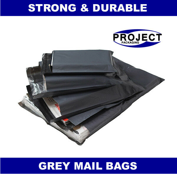 1000 BAGS 17x24 INCH STRONG 57MU MAILING POSTAGE POSTAL QUALITY SELF SEAL GREY