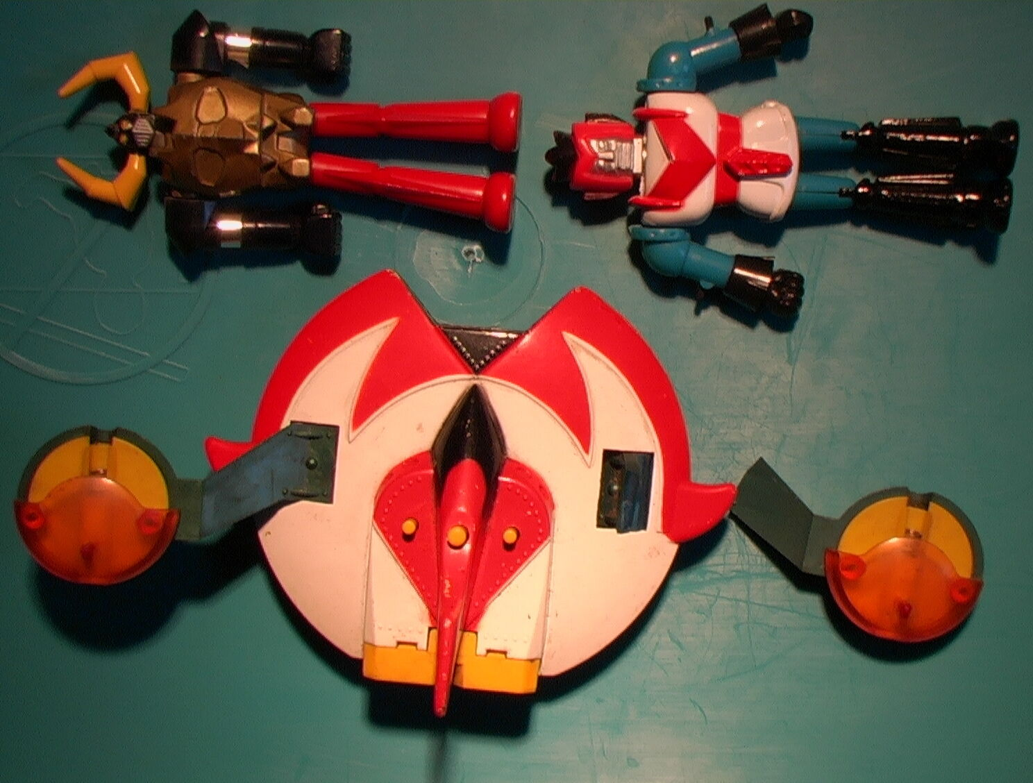 Shogun Warriors VINTAGE 1979 Lot of 3 UFO Robots Japan 4  Bandai METAL