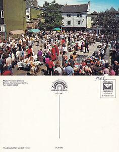 1970-039-s-THE-ELIZABETHAN-MARKET-TOTNES-DEVON-UNUSED-COLOUR-POSTCARD