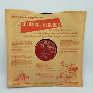 Tony-Bennett-78rpm-10-034-Columbia-39362-Because-Of-You-I-Wont-Cry-Anymore-VG